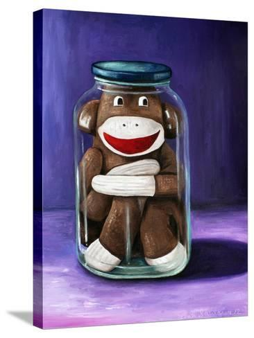 Preserving Childhood Sock Monkey-Leah Saulnier-Stretched Canvas Print