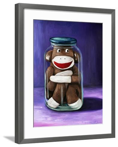 Preserving Childhood Sock Monkey-Leah Saulnier-Framed Art Print