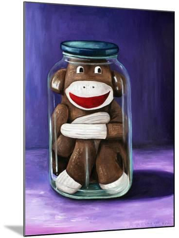 Preserving Childhood Sock Monkey-Leah Saulnier-Mounted Giclee Print