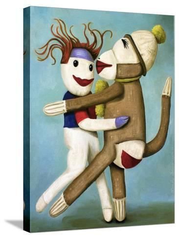 Sock Dolls Dancing-Leah Saulnier-Stretched Canvas Print