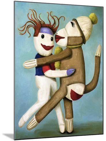 Sock Dolls Dancing-Leah Saulnier-Mounted Giclee Print