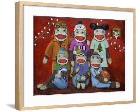 Sock Doll Family Portrait-Leah Saulnier-Framed Art Print