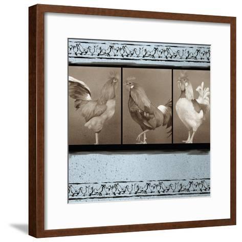 Rooster Ware Aqua I-Kory Fluckiger-Framed Art Print
