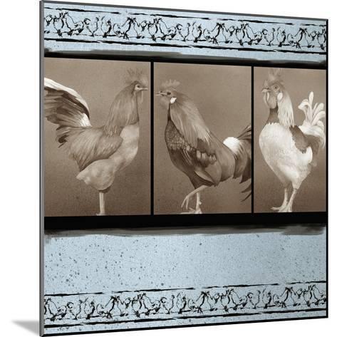 Rooster Ware Aqua I-Kory Fluckiger-Mounted Giclee Print