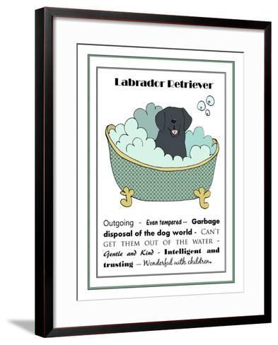 XL Black Labrador-Jennifer Zsolt-Framed Art Print