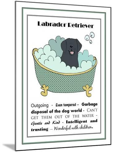 XL Black Labrador-Jennifer Zsolt-Mounted Giclee Print