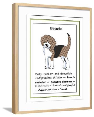 XL Beagle-Jennifer Zsolt-Framed Art Print