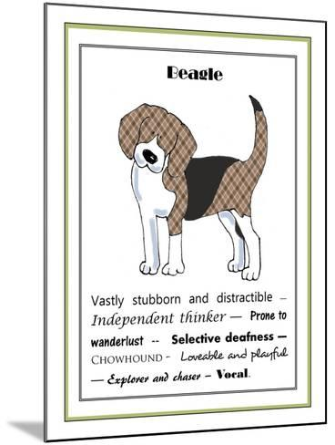 XL Beagle-Jennifer Zsolt-Mounted Giclee Print
