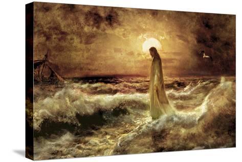 Christ on Water-Jason Bullard-Stretched Canvas Print