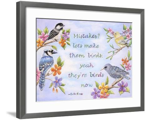 Birds and Flowers Quote-Michelle Faber-Framed Art Print
