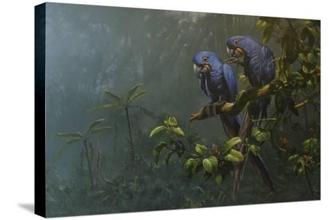 Blue Birds-Michael Jackson-Stretched Canvas Print