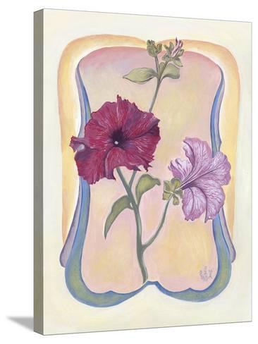 Art Deco Petunias-Judy Mastrangelo-Stretched Canvas Print