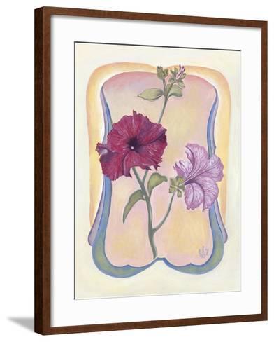 Art Deco Petunias-Judy Mastrangelo-Framed Art Print