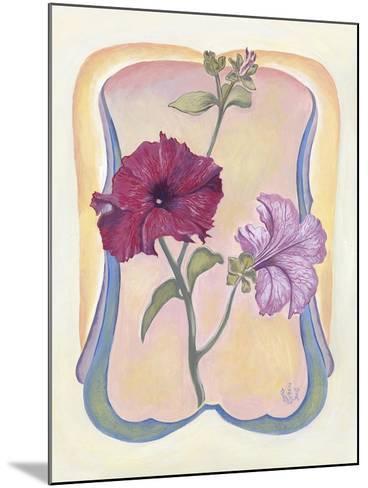 Art Deco Petunias-Judy Mastrangelo-Mounted Giclee Print