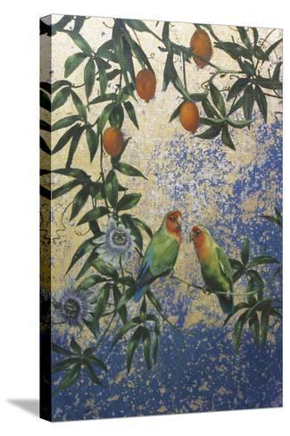 Lovebirds 1-Michael Jackson-Stretched Canvas Print