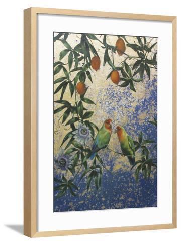 Lovebirds 1-Michael Jackson-Framed Art Print