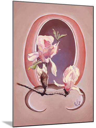 Art Deco Magnolias-Judy Mastrangelo-Mounted Giclee Print