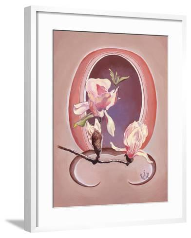 Art Deco Magnolias-Judy Mastrangelo-Framed Art Print