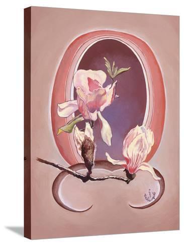 Art Deco Magnolias-Judy Mastrangelo-Stretched Canvas Print