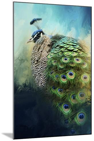 Peacock in Winter-Jai Johnson-Mounted Giclee Print