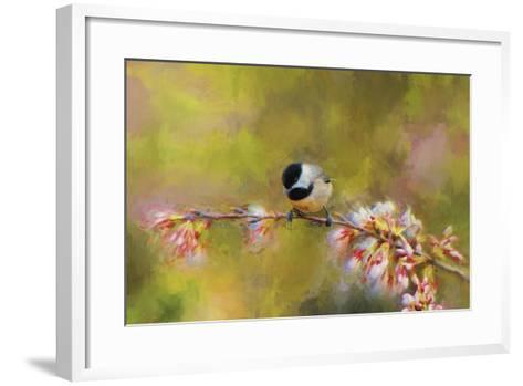 Impressionist Chickadee-Jai Johnson-Framed Art Print