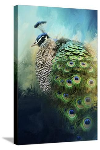 Peacock in Winter-Jai Johnson-Stretched Canvas Print