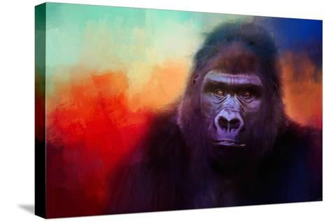 Colorful Expressions Gorilla-Jai Johnson-Stretched Canvas Print