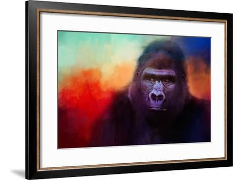 Colorful Expressions Gorilla-Jai Johnson-Framed Art Print