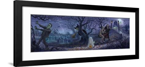 Halloween Scene-Jason Bullard-Framed Art Print