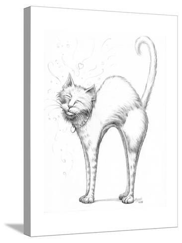 Love Scratch Pencil-Jeff Haynie-Stretched Canvas Print