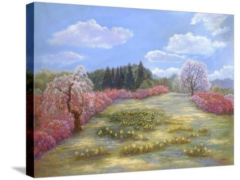 Azalea Meadow-Judy Mastrangelo-Stretched Canvas Print