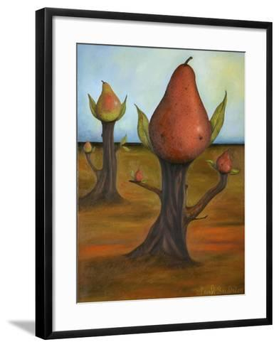 Surreal Pear Trees 4-Leah Saulnier-Framed Art Print