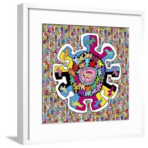 Colorful Wheel-Miguel Balb?s-Framed Art Print