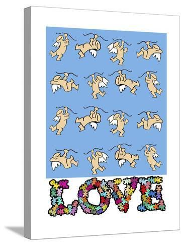Cupids Love-Miguel Balb?s-Stretched Canvas Print