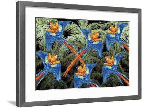 Palm Parrot-James Mazzotta-Framed Art Print