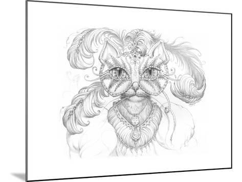Mardi Gras Cat Pencil-Jeff Haynie-Mounted Giclee Print
