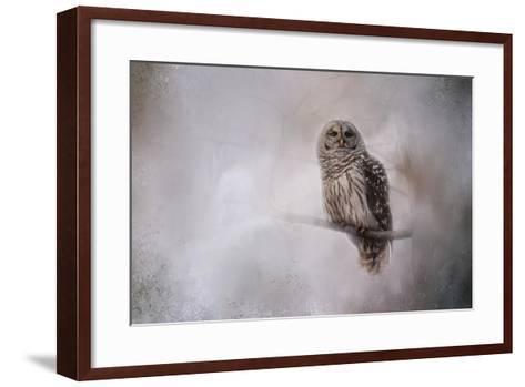 Winter Owl-Jai Johnson-Framed Art Print