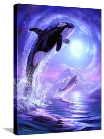 Aquatic Touch the Sky-Jeff Haynie-Stretched Canvas Print