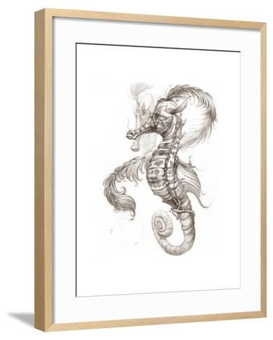 Aquatic Seahorse Pencil-Jeff Haynie-Framed Art Print