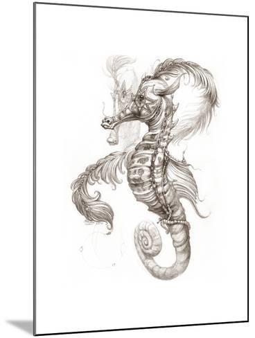 Aquatic Seahorse Pencil-Jeff Haynie-Mounted Giclee Print