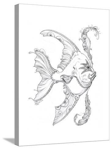 Aquatic Fish 1 Pencil-Jeff Haynie-Stretched Canvas Print