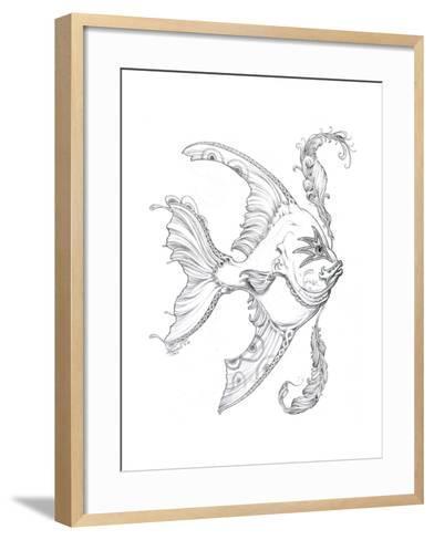 Aquatic Fish 1 Pencil-Jeff Haynie-Framed Art Print