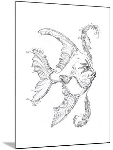 Aquatic Fish 1 Pencil-Jeff Haynie-Mounted Giclee Print