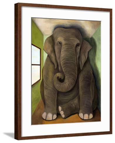 Elephant in a Room Cracks-Leah Saulnier-Framed Art Print