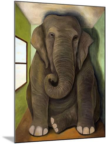 Elephant in a Room Cracks-Leah Saulnier-Mounted Giclee Print