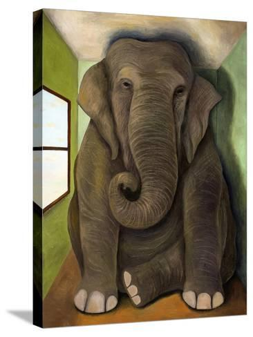 Elephant in a Room Cracks-Leah Saulnier-Stretched Canvas Print