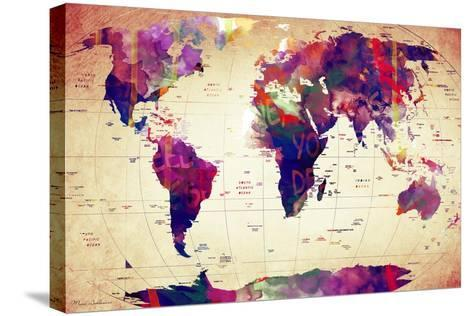 Map of the World Vintage-Mark Ashkenazi-Stretched Canvas Print