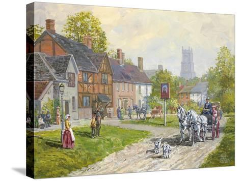 The Passing Carriage-Peter Snyder-Stretched Canvas Print