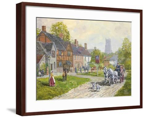 The Passing Carriage-Peter Snyder-Framed Art Print