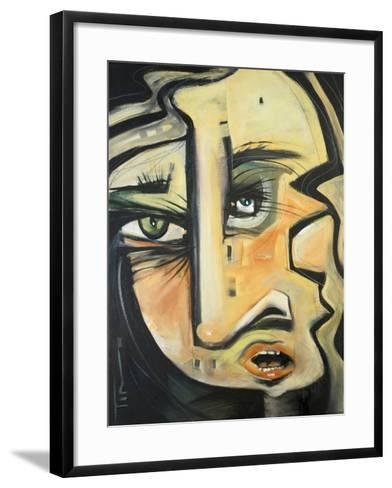She Lunches Alone-Tim Nyberg-Framed Art Print